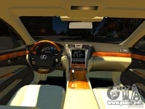 Lexus LS600 V2.0 para GTA 4 vista hacia atrás