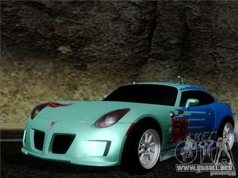 Pontiac Solstice Falken Tire para GTA San Andreas left