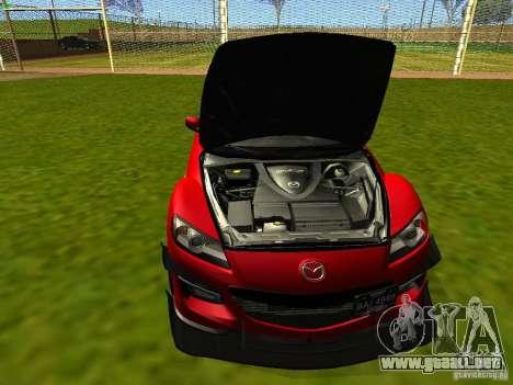 Mazda RX-8 R3 Tuned 2011 para visión interna GTA San Andreas