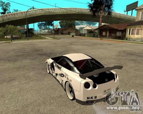 Nissan Skyline R35 para GTA San Andreas left