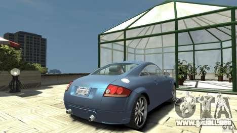 Audi TT 1.8 (8N) para GTA 4 Vista posterior izquierda