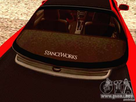 Acura NSX Stance Works para visión interna GTA San Andreas