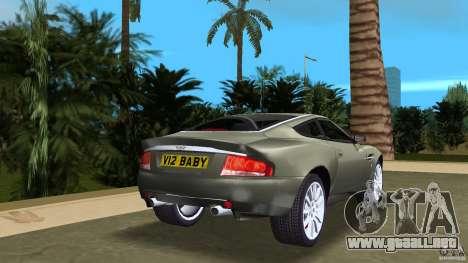 Aston Martin V12 Vanquish 6.0 i V12 48V para GTA Vice City vista lateral izquierdo