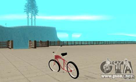 Classic Bike para GTA San Andreas vista posterior izquierda