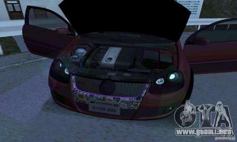 Volkswagen Golf V JDM Style para GTA San Andreas vista posterior izquierda