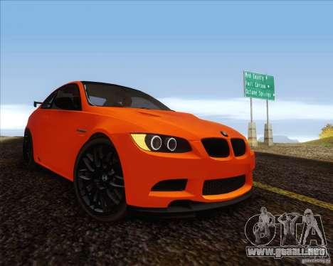 BMW M3 GT-S para GTA San Andreas vista posterior izquierda