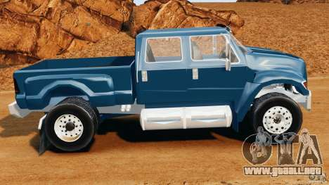 Ford F-650 XLT Superduty para GTA 4 left