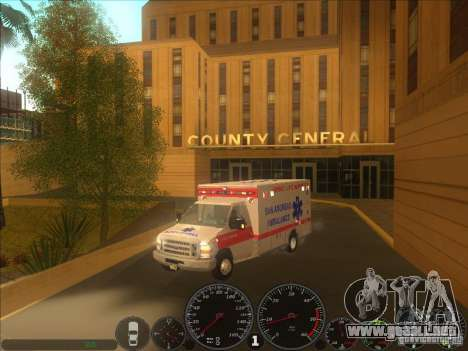 Ford E-350 Ambulance 2 para la visión correcta GTA San Andreas
