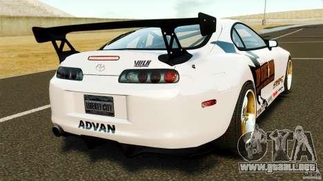 Toyota Supra Top Secret para GTA 4 Vista posterior izquierda