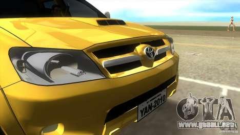 Toyota Hilux SRV 4x4 para GTA Vice City visión correcta