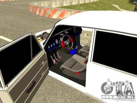 VAZ 2101 para GTA San Andreas vista posterior izquierda