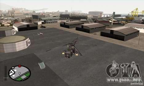 Camo gris MI-8 para GTA San Andreas vista posterior izquierda