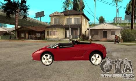 Lamborghini Concept S para GTA San Andreas left