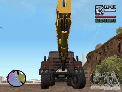 KrAZ-250 MKAT-40 para la visión correcta GTA San Andreas
