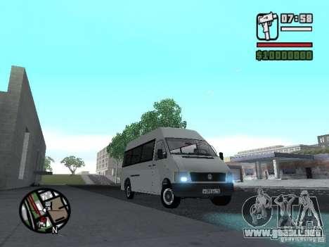 Volkswagen LT 35 Passažirsikj para visión interna GTA San Andreas