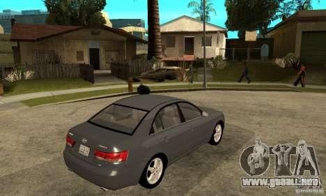 Hyundai Sonata 2008 hd para la visión correcta GTA San Andreas