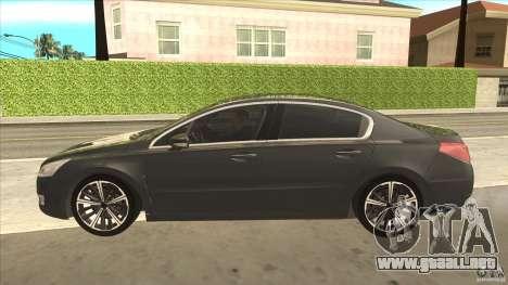Peugeot 508 2011 EU plates para GTA San Andreas left