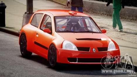 Renault Clio Sport para GTA 4 vista hacia atrás
