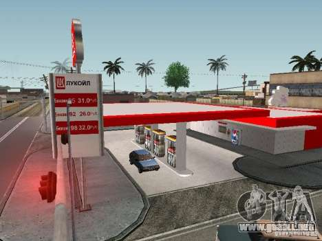 La gasolinera Lukoil para GTA San Andreas segunda pantalla