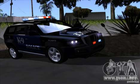 NFS Undercover Police SUV para GTA San Andreas left