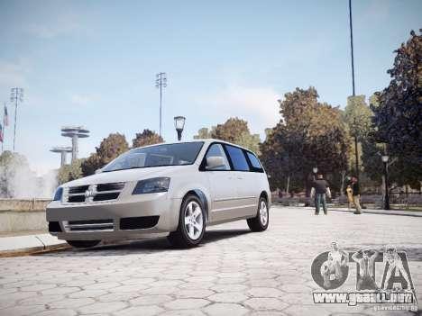 Dodge Grand Caravan SXT 2008 para GTA 4 vista interior