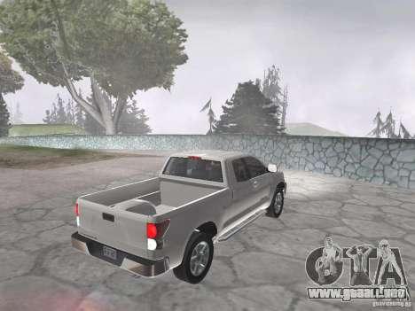 Toyota Tundra para GTA San Andreas vista posterior izquierda