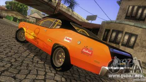 Plymouth Duster 440 para vista lateral GTA San Andreas