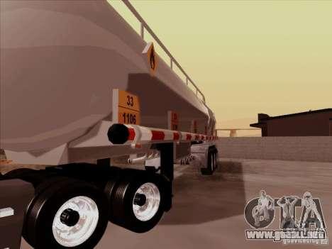 Trailer Kenworth T2000 para GTA San Andreas vista hacia atrás