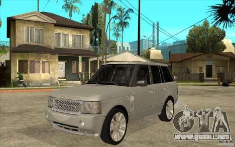 Land Rover Range Rover Supercharged 2009 para GTA San Andreas