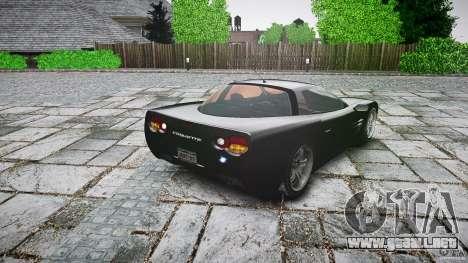 Coquette FBI car para GTA 4 Vista posterior izquierda