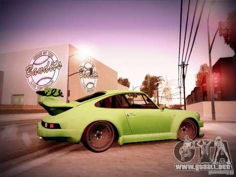 Porsche 911 Turbo RWB Pandora One para GTA San Andreas vista hacia atrás