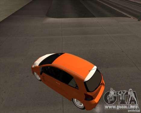Toyota Yaris II Pac performance para GTA San Andreas vista posterior izquierda