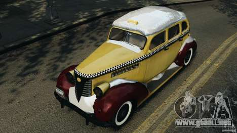Shubert Taxi para GTA 4 vista lateral
