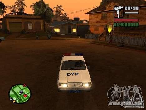 DYP 2107 police para GTA San Andreas left