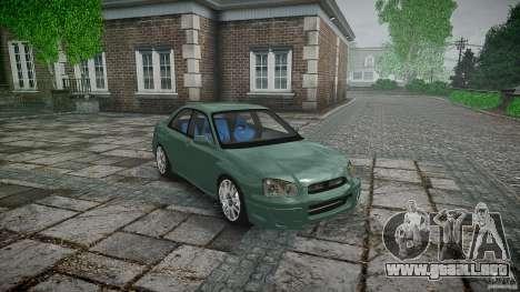 Subaru Impreza v2 para GTA 4 vista lateral