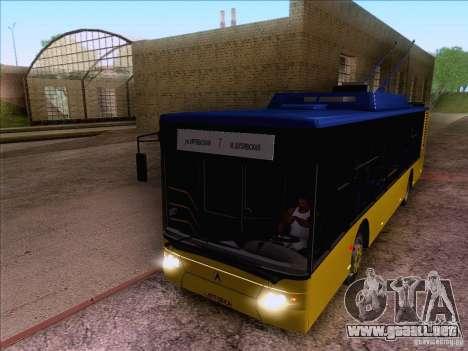 ElectroLAZ-12 para GTA San Andreas vista hacia atrás