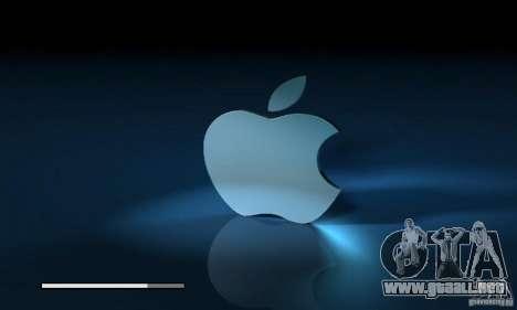 La pantalla de arranque de Apple para GTA San Andreas sucesivamente de pantalla