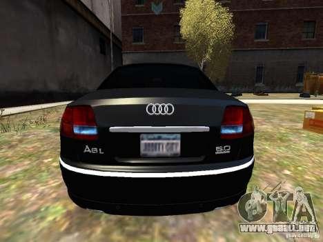 Audi A8L W12 para GTA 4 visión correcta