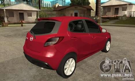 Mazda 2 2011 para la visión correcta GTA San Andreas