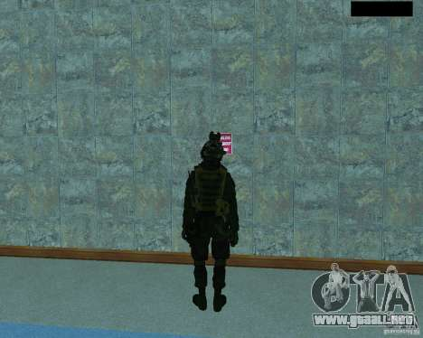 El tercer soldado de la piel Cod MW 2 para GTA San Andreas tercera pantalla