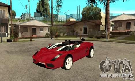 Lamborghini Concept S para GTA San Andreas
