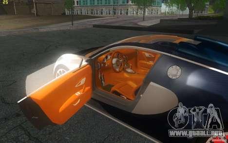 Bugatti Veyron 16.4 Grand Sport Sang Bleu para GTA San Andreas vista hacia atrás