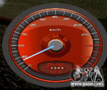 BMW velocímetro para GTA San Andreas