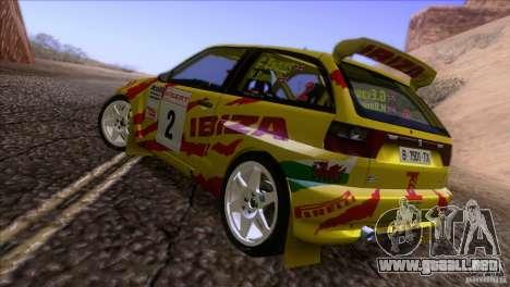 Seat Ibiza Rally para vista inferior GTA San Andreas