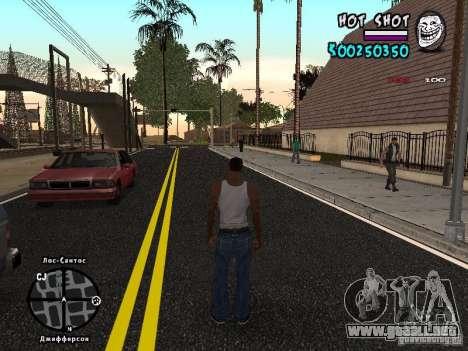HUD by Hot Shot para GTA San Andreas segunda pantalla