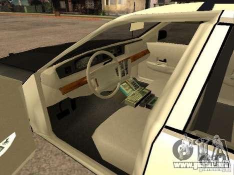 Ford Crown Victoria 1994 Police para GTA San Andreas vista posterior izquierda