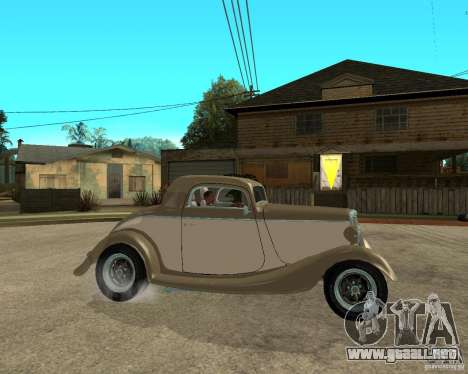 Ford 1934 Coupe v2 para la visión correcta GTA San Andreas