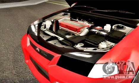 Mitsubishi Lancer Evolution 6 para visión interna GTA San Andreas