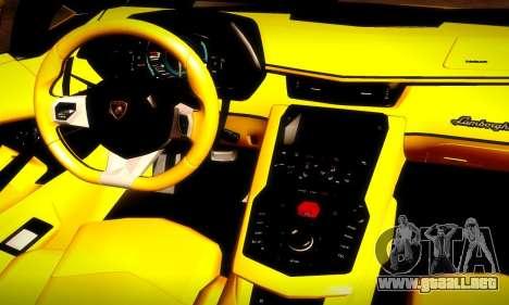 Lamborghini Aventador LP 700-4 para la vista superior GTA San Andreas