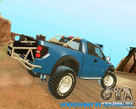Ford F150 2011 SVT RapTor para vista inferior GTA San Andreas